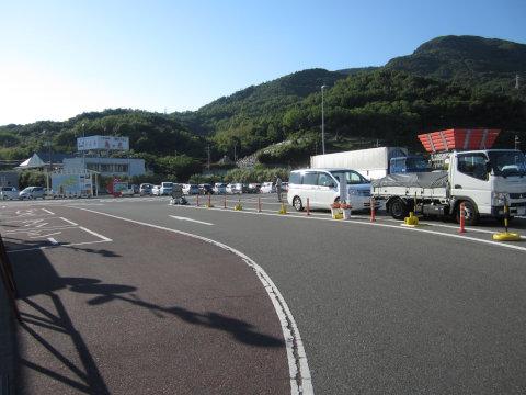 池田港の駐車場