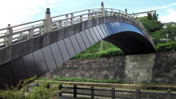 福知山城の上がった橋