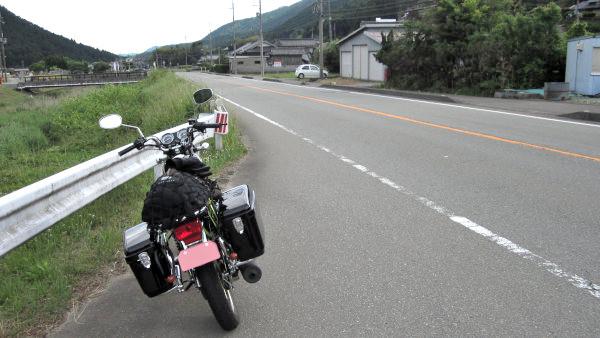 国道312号とYB125SP