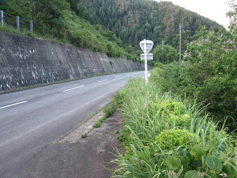 油坂峠の国道158号1