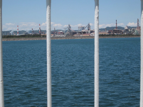 和歌山港付近の工場らしき風景