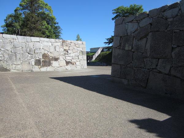 赤穂城址内部の石垣