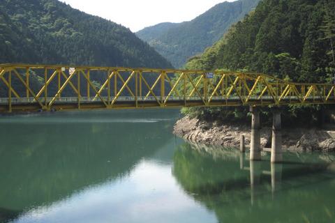 出合トンネルに通じる旧橋