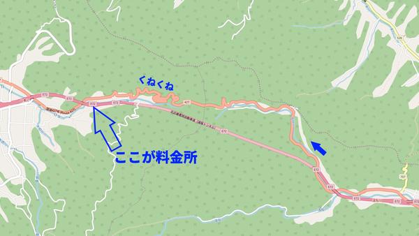 遠阪峠の地図矢印入り
