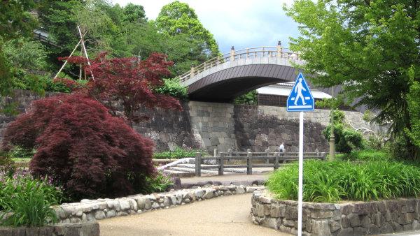 福知山城下の公園と橋